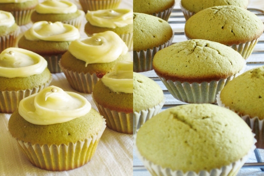 Matcha Green Tea cup cakes