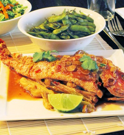 Red Snapper with Lemongrass and Sweet Chili