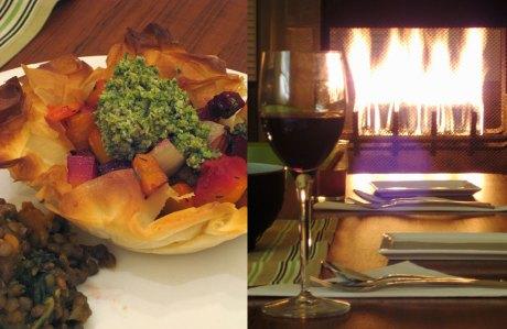 Fireside dinner 1