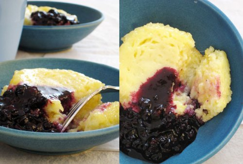 lemon-blueberry-pudding